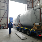 chocolate storage tanks ready for client