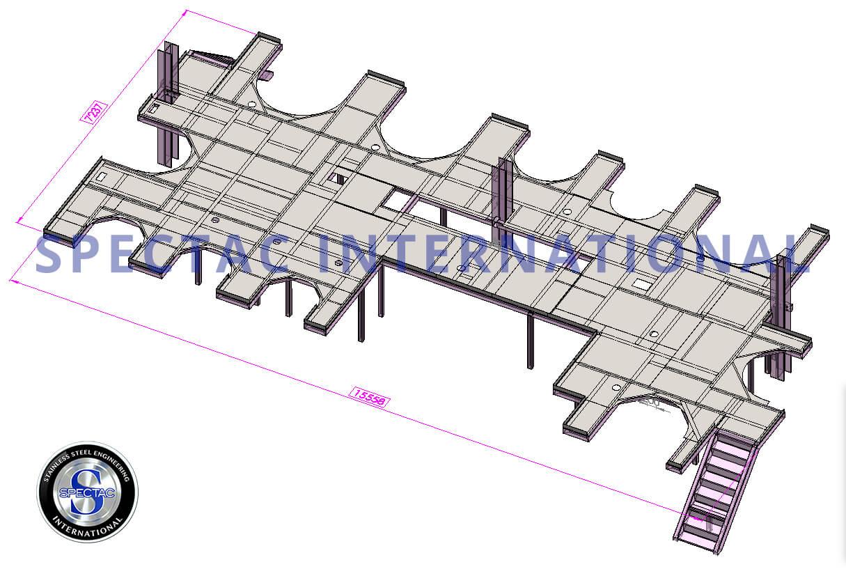 Steel Platform Structure to EN1090 standards